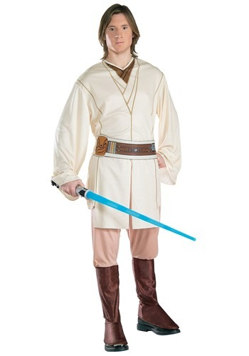 Deluxe EVA Obi Wan Kenobi Adult Costume This Star Wars Deluxe EVA Obi Wan Kenobi Adult Costume includes a tunic with armor, pants with attached boot tops and belt. Find this Pin and more on Costumes World by I Love Australia.