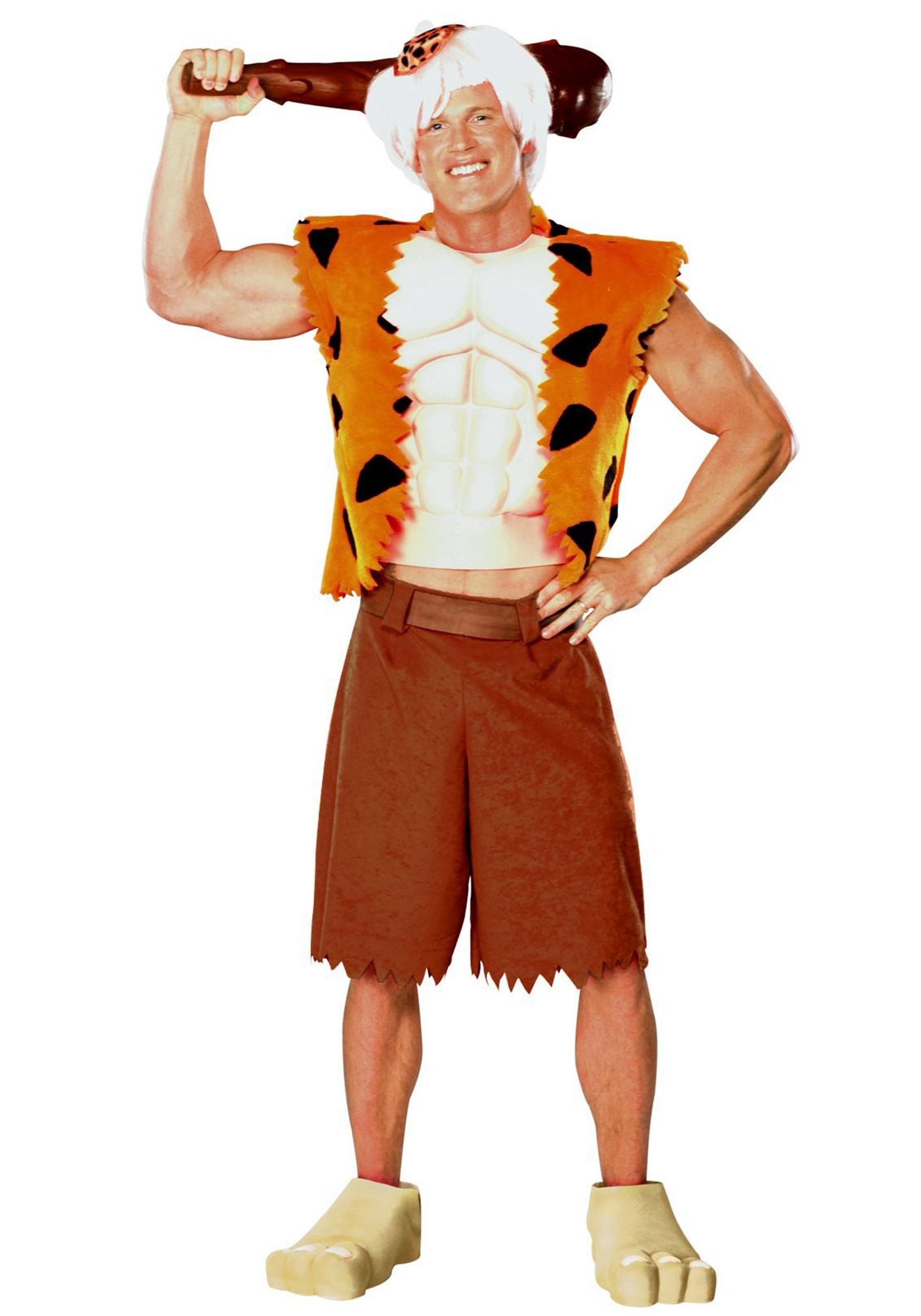 adult deluxe bamm bamm costume for men