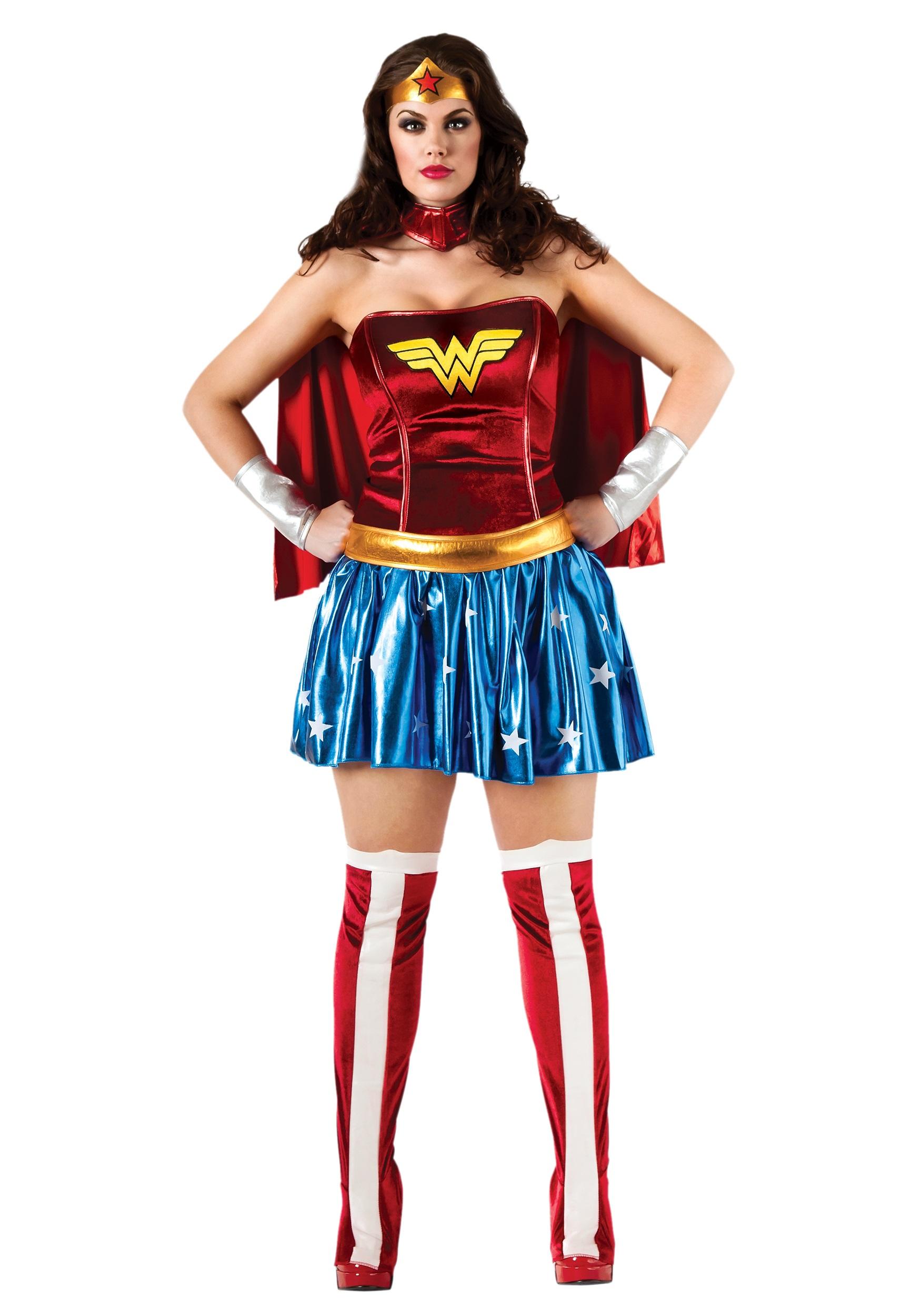Wonder Woman Plus Size Superhero Costume  sc 1 st  Fun.com & Plus Size Wonder Woman Superhero Costume