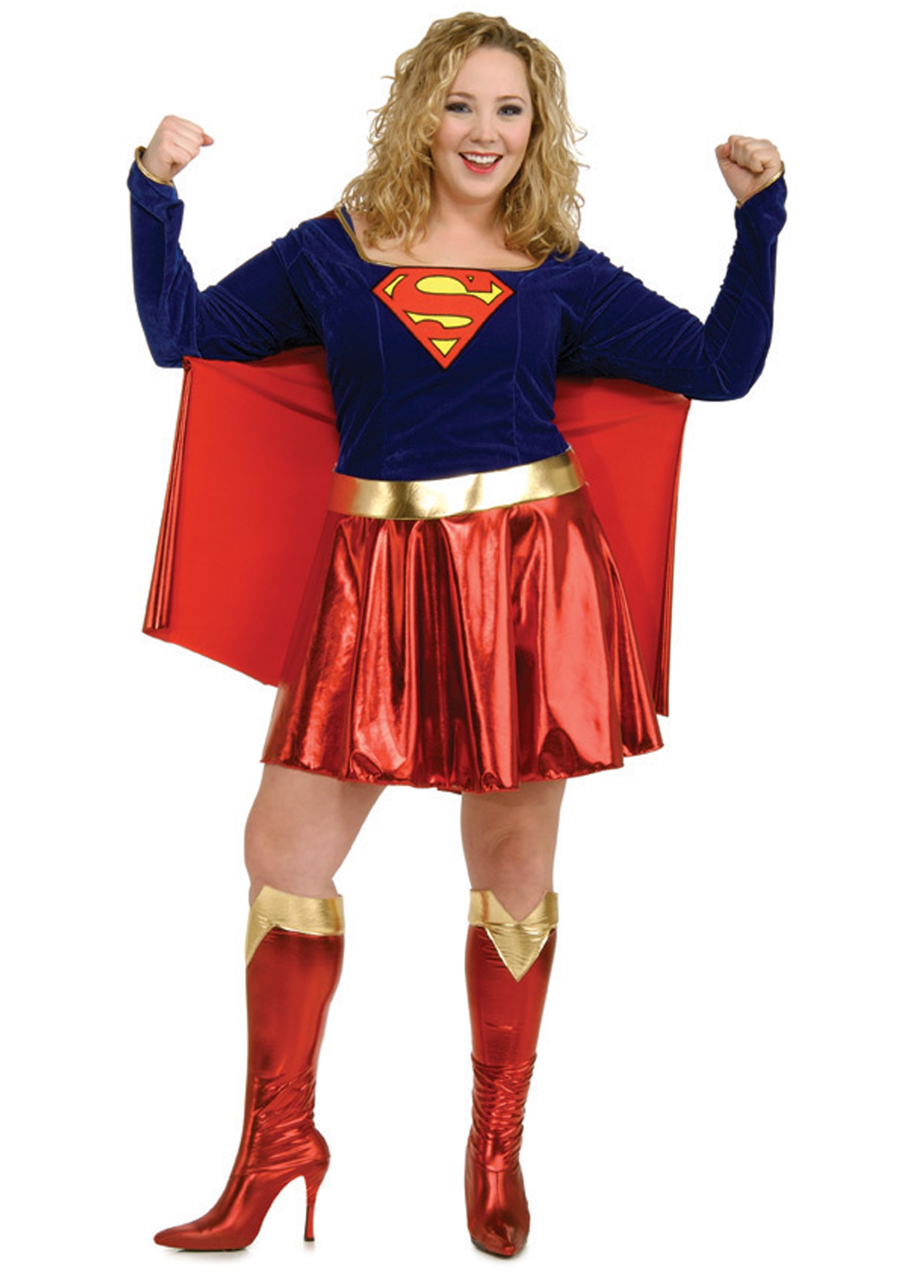 Women's Plus Size Supergirl Costume RU17479