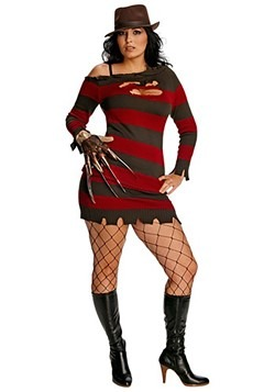 Womenu0027s Plus Size Miss Krueger Costume  sc 1 st  Fun.com & Scary Halloween Costumes for Adults and Kids