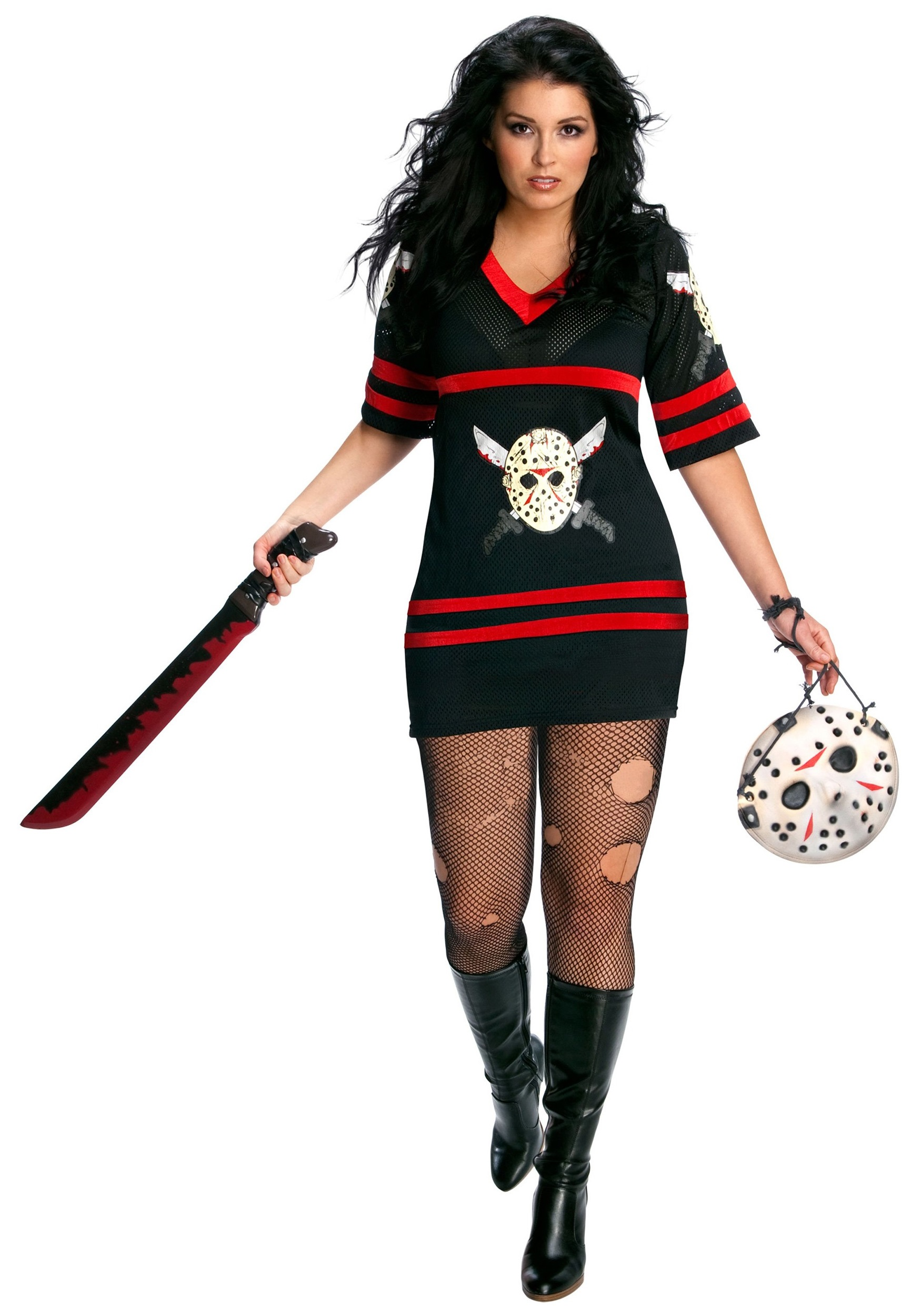 Womenu0027s Sexy Plus Size Jason Costume  sc 1 st  Fun.com & Sexy Plus Size Jason Costume for Women