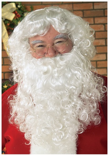 White Santa Wig and Beard