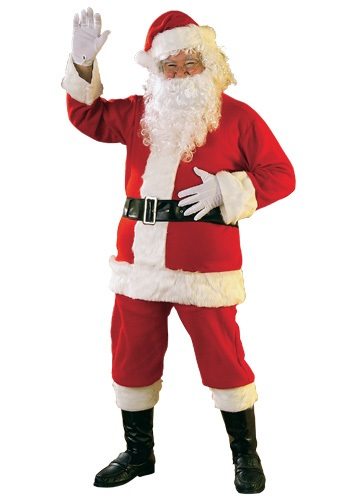 Mens Flannel Santa Suit