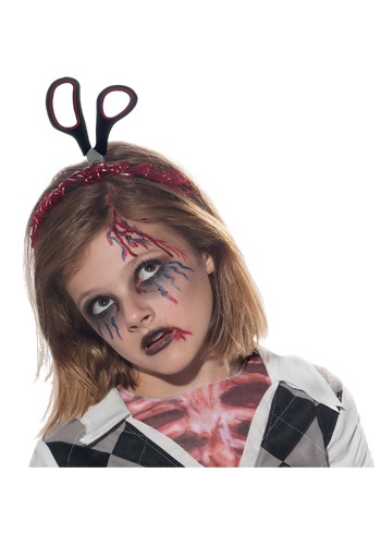 Zombie Headband w/ Scissors and Blood