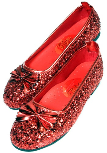 Girls Ruby Slippers Red Shoes
