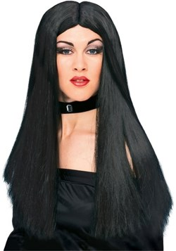 Womens Black Witch Wig