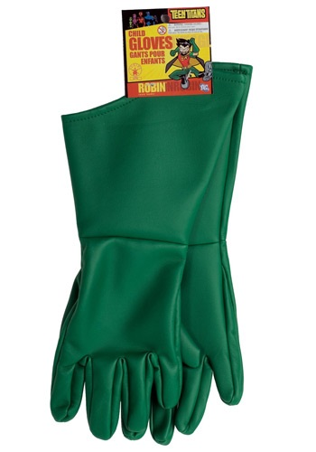 Kids Green Robin Gloves