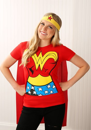 Wonder Woman T-Shirt Costume Update1