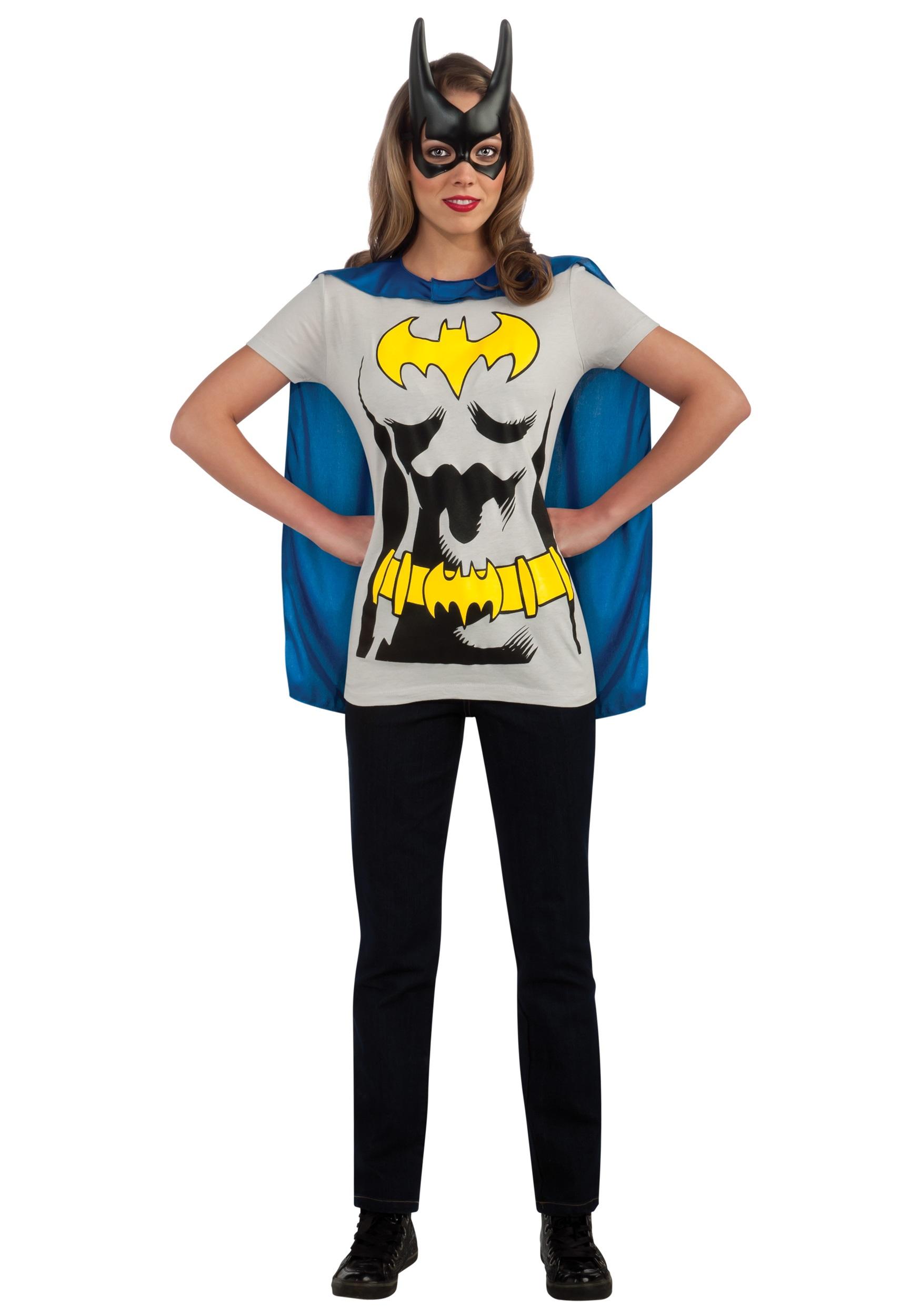 sc 1 st  Fun.com & Womens Batgirl T-Shirt with Cape Costume