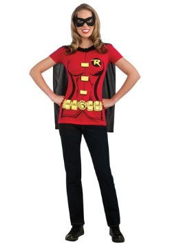 Womens Robin T-Shirt with Cape Costume