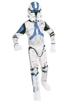 Kids White Clone Trooper Costume