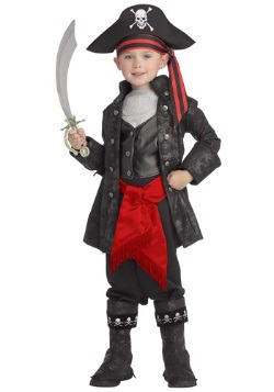 Captain Black Pirate Costume for Toddlers