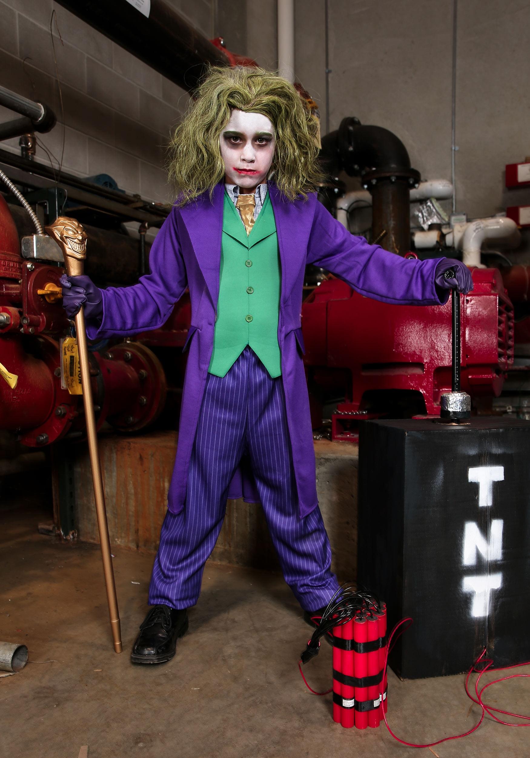 Deluxe Joker Costume For Boys
