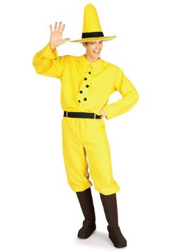 Adult Yellow Hat Man Costume