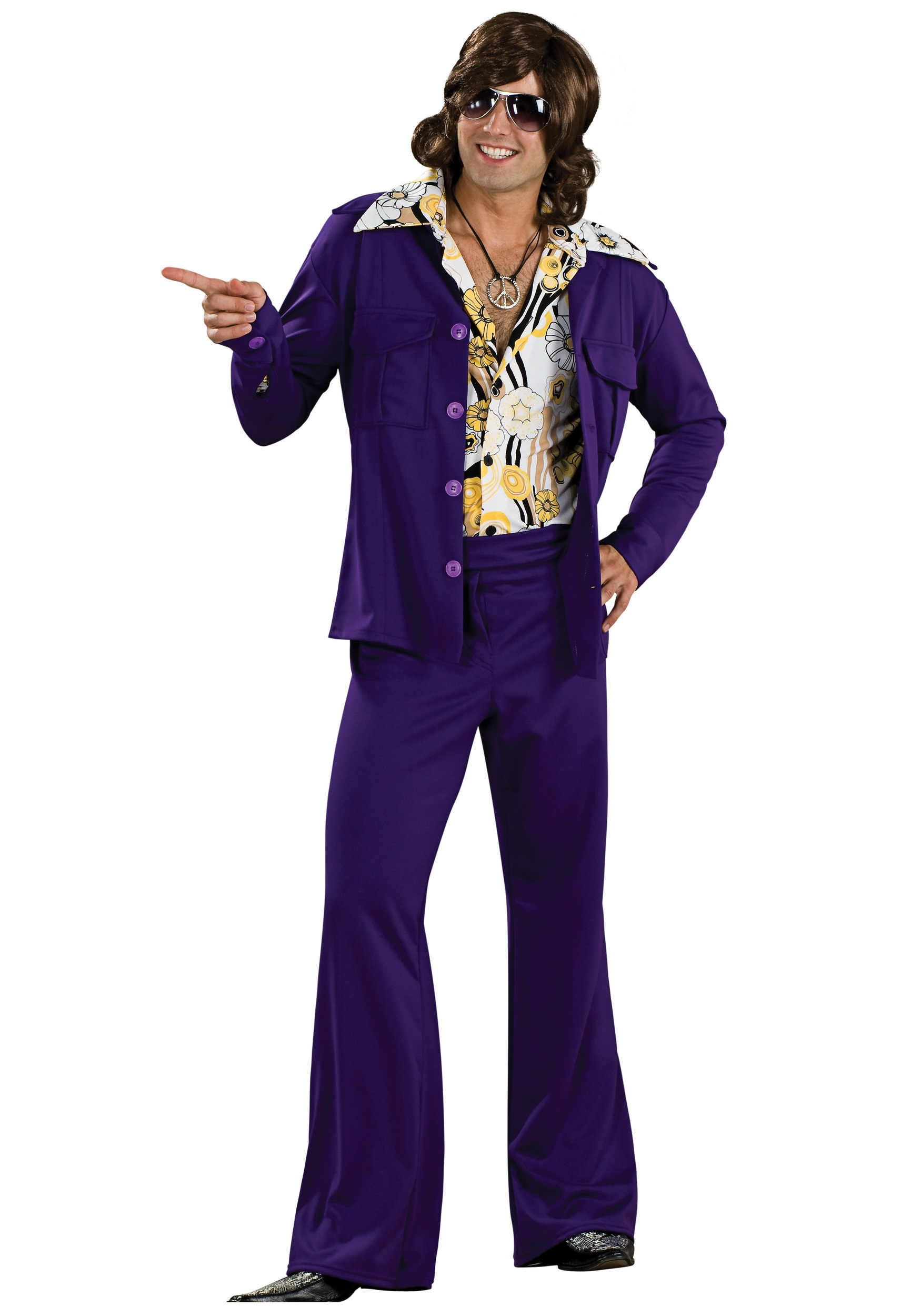 Purple leisure suit for adults