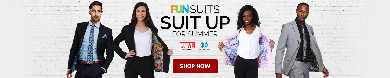Suit up for Summer. FUNSUITS.